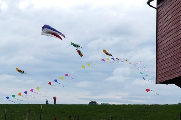 Kids and Kites Dance in the Wind on the Hills Above Staunton